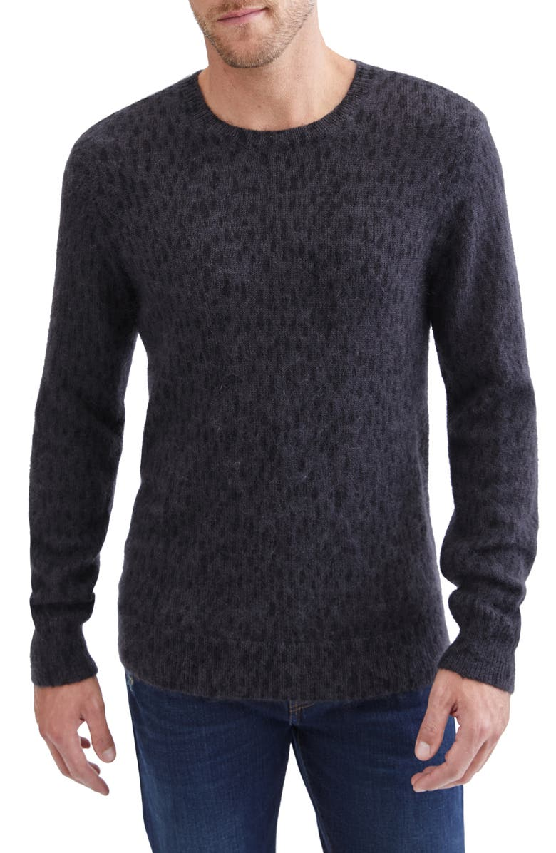 7 FOR ALL MANKIND<SUP>®</SUP> 7 For All Mankind Stripe Crewneck Sweater, Main, color, PRINTED CHARCOAL PAINT
