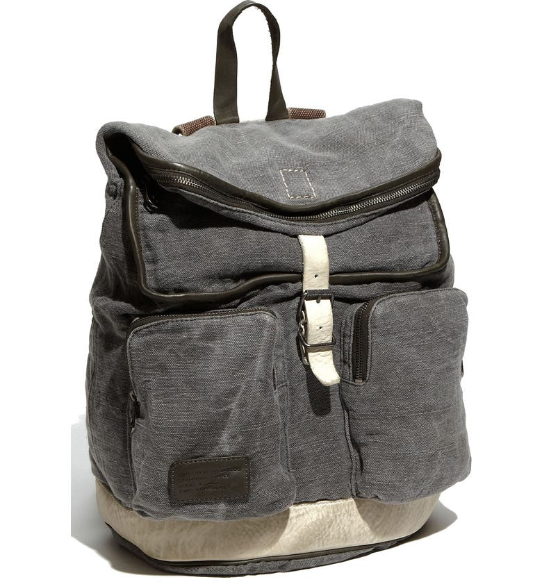 MARC BY MARC JACOBS Washed Canvas Backpack, Main, color, ARMY GREY