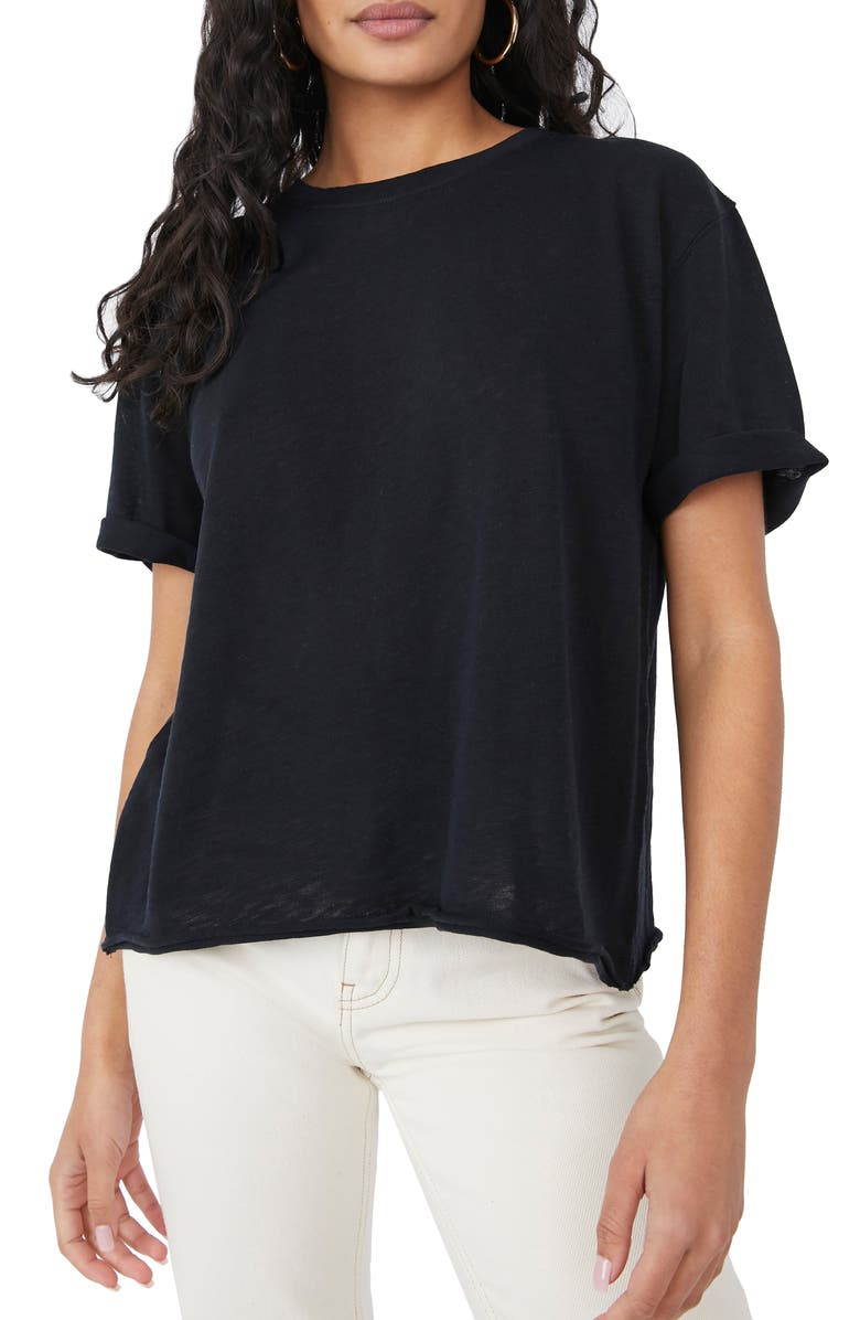 FREE PEOPLE Cassidy Tee, Main, color, BLACK