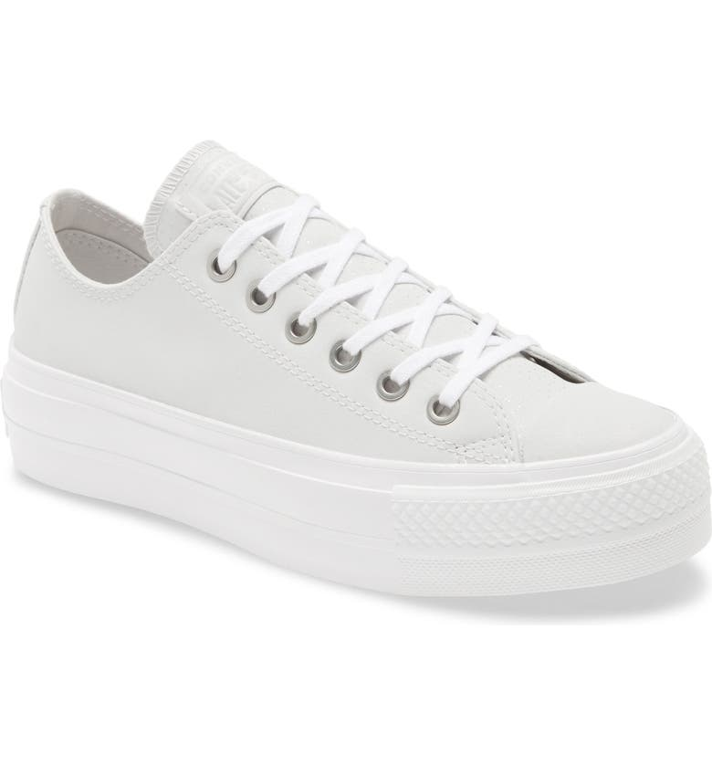 CONVERSE Chuck Taylor<sup>®</sup> All Star<sup>®</sup> Lift Ox Platform Sneaker, Main, color, 100