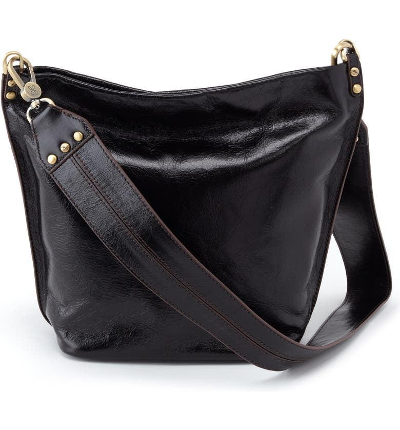 HOBO Flare Leather Bucket Bag, Main, color, 001