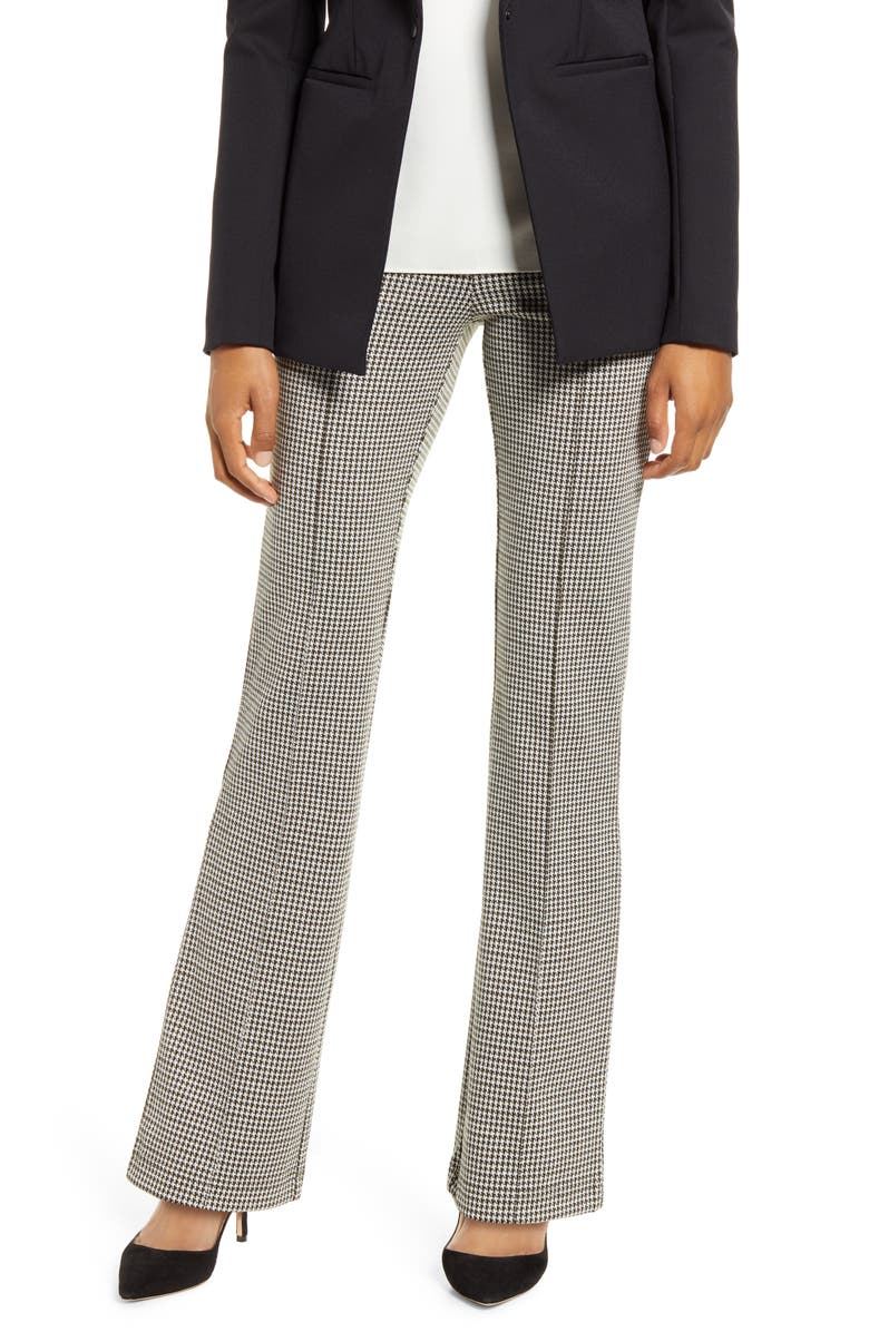 LYSSÉ Houndstooth Jacquard Flare Leggings, Main, color, 305