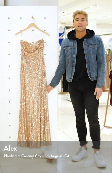 Lavish Lover Sequin Strapless Gown, sales video thumbnail