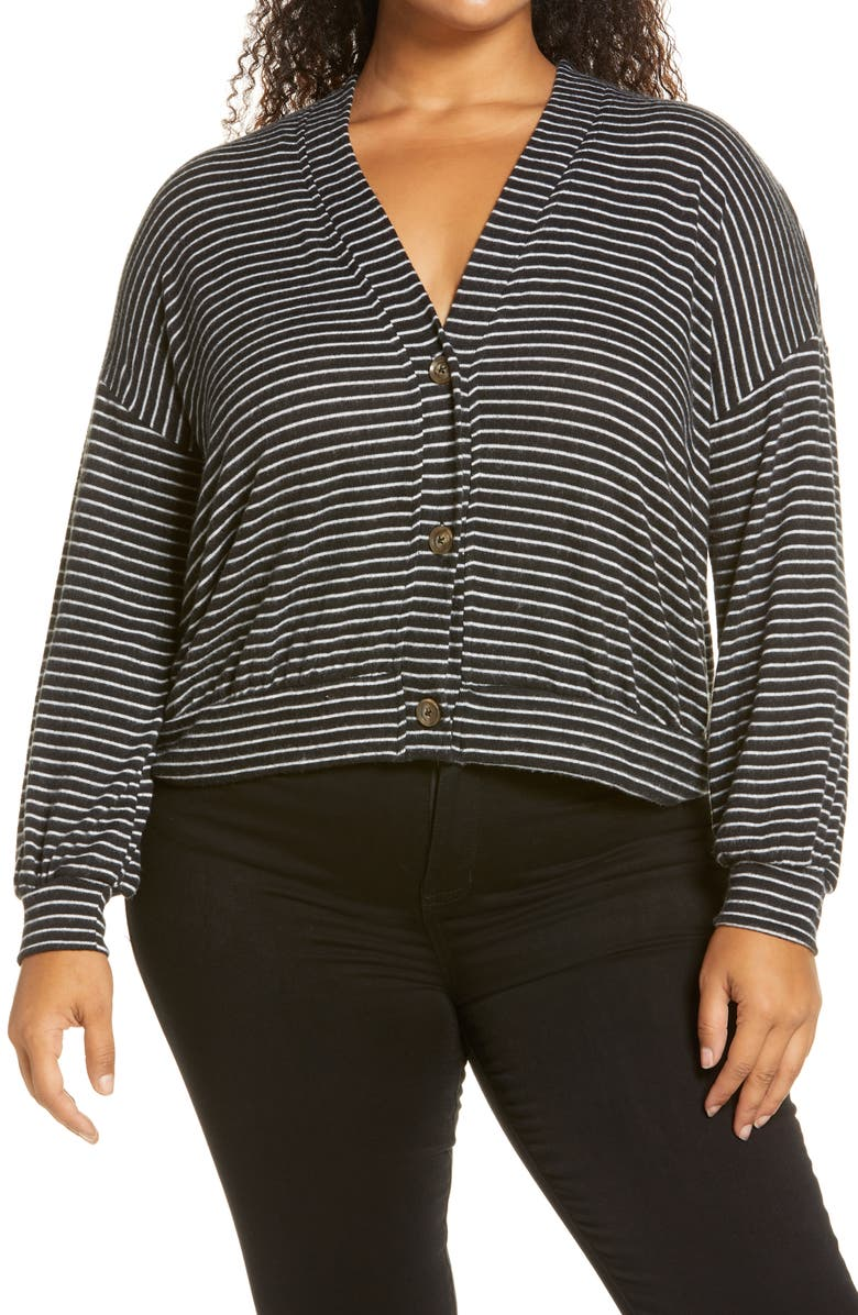 BOBEAU Nia Cozy Crop Cardigan, Main, color, MINI
