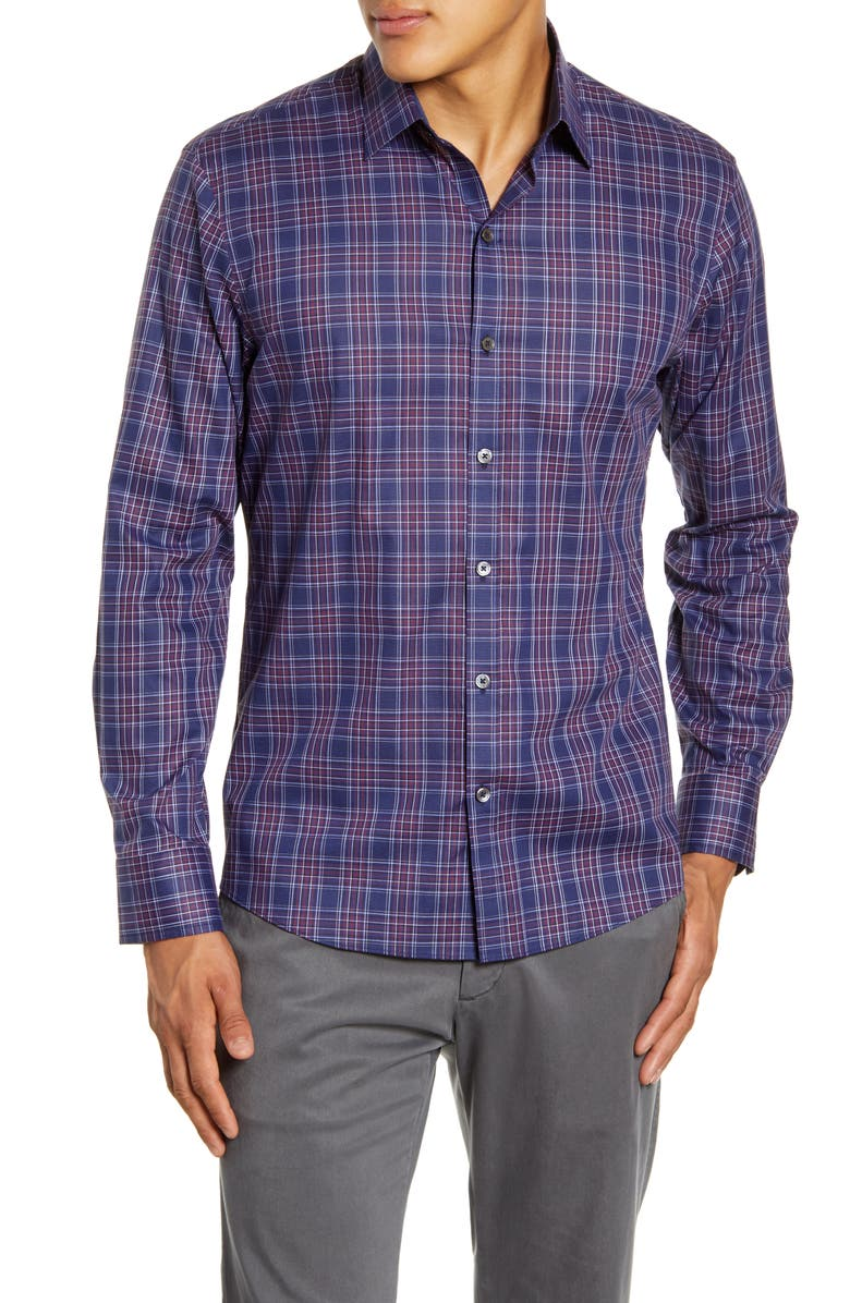 ZACHARY PRELL Rief Regular Fit Plaid Button-Up Shirt, Main, color, 410
