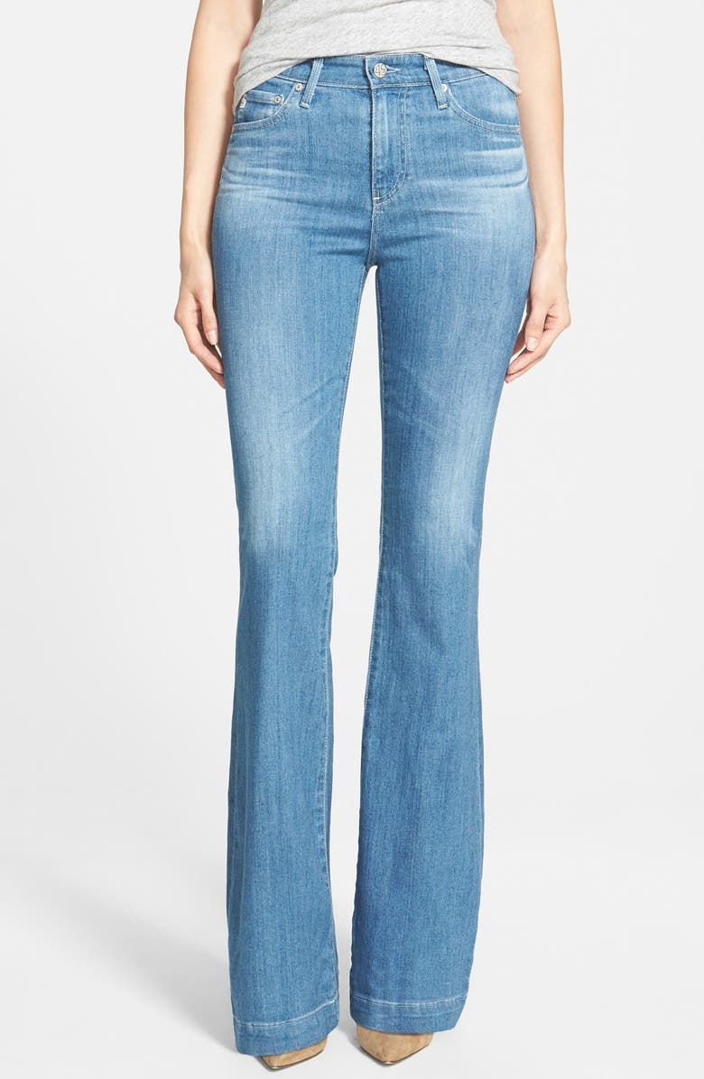AG 'Janis' High Rise Flare Jeans, Main, color, 400