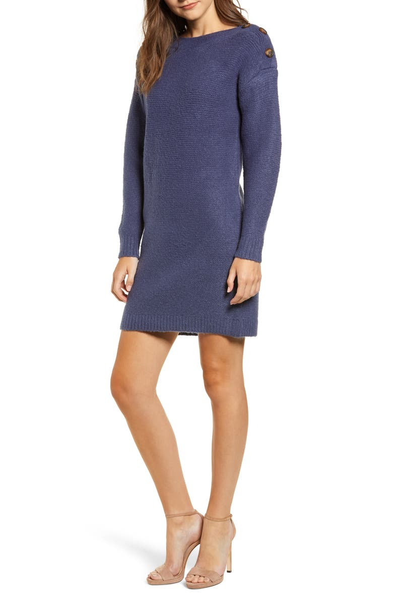 CHRISELLE LIM COLLECTION Chriselle Lim Sawyer Sweater Dress, Main, color, 400