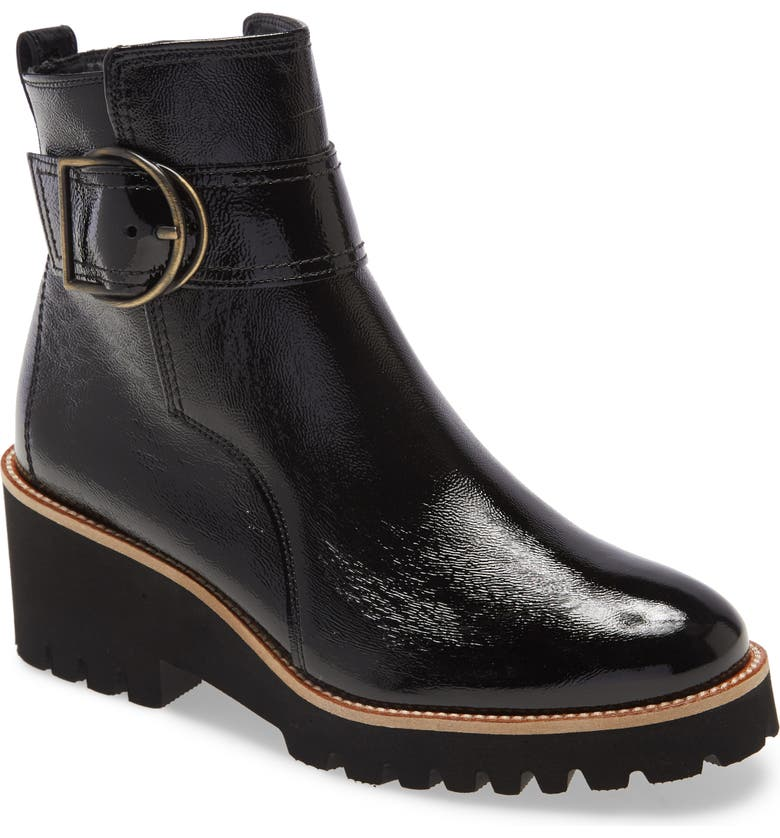 PAUL GREEN Dynamic Boot, Main, color, BLACK CRINKLED PATENT