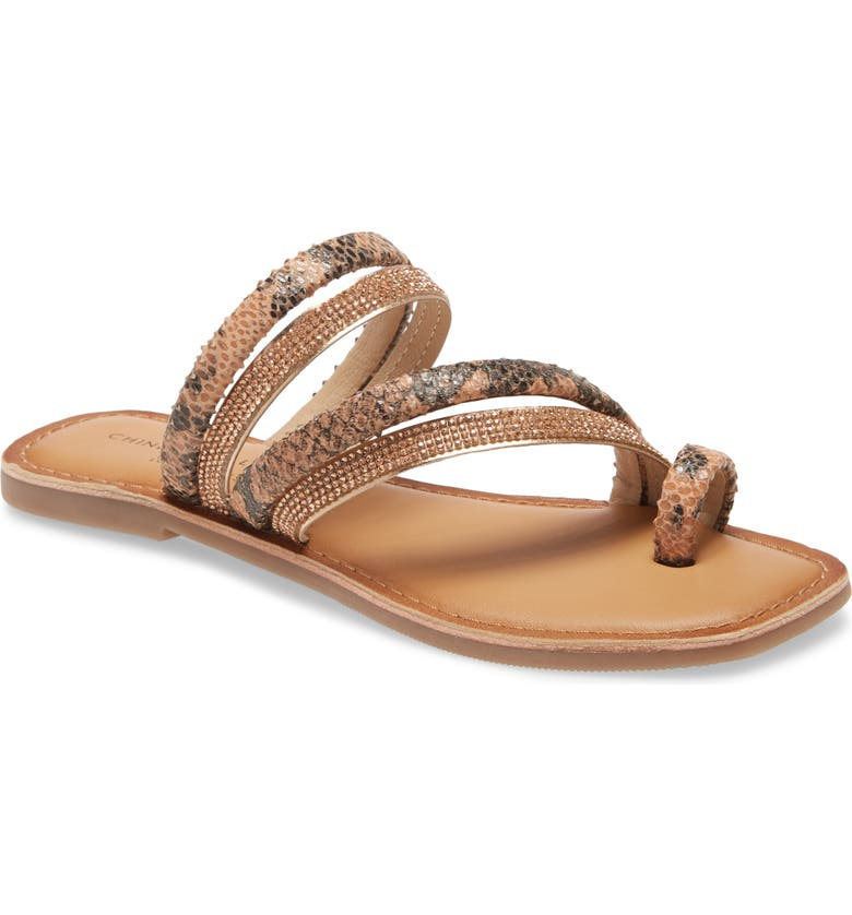 CHINESE LAUNDRY Solar Sandal, Main, color, BLUSH/ ROSE GOLD LEATHER