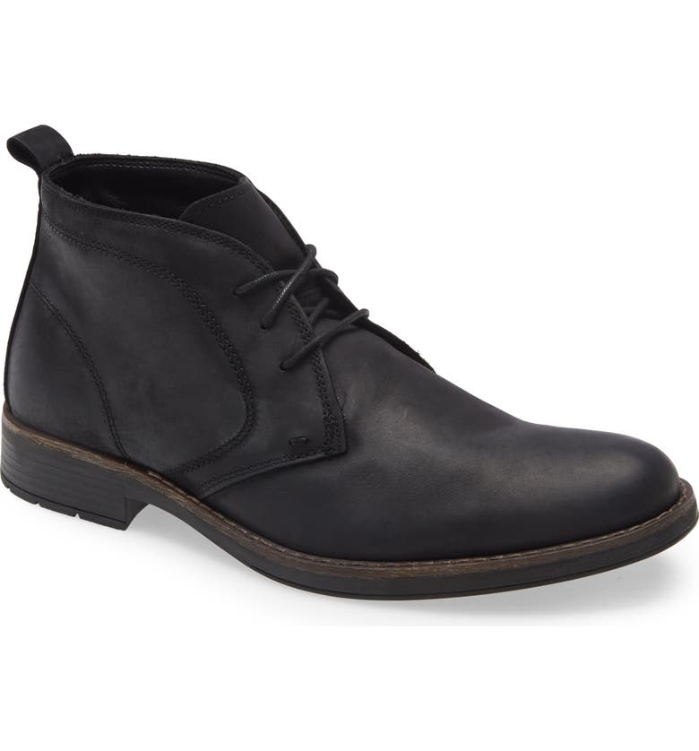 NORDSTROM Grayson Waterproof Chukka Boot, Main, color, BLACK LEATHER
