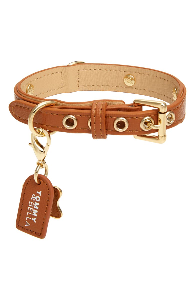 TOMMY AND BELLA Tommy & Bella Signature Collection Leather Dog Collar, Main, color, 200