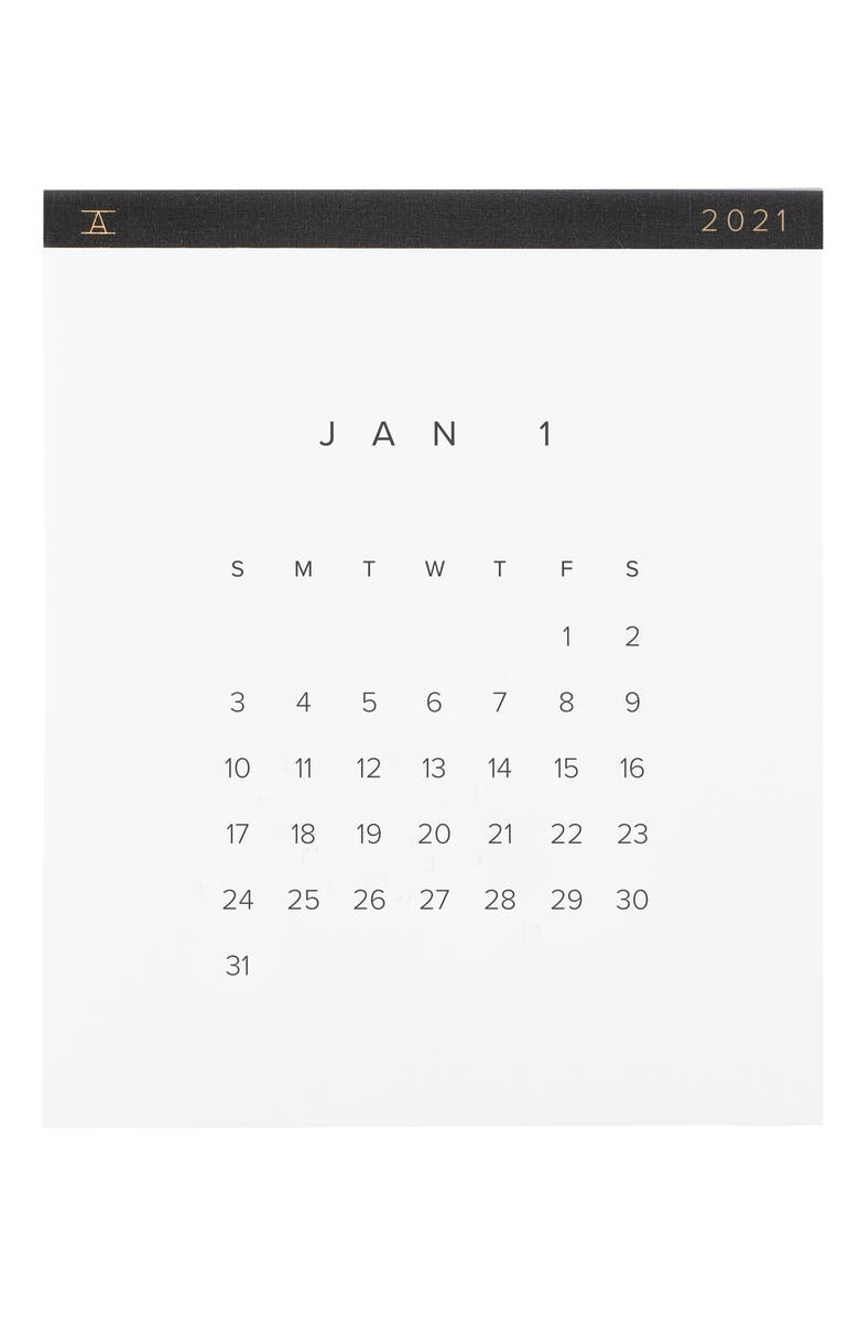 APPOINTED 2021 Wall Calendar, Main, color, CHARCOAL GRAY