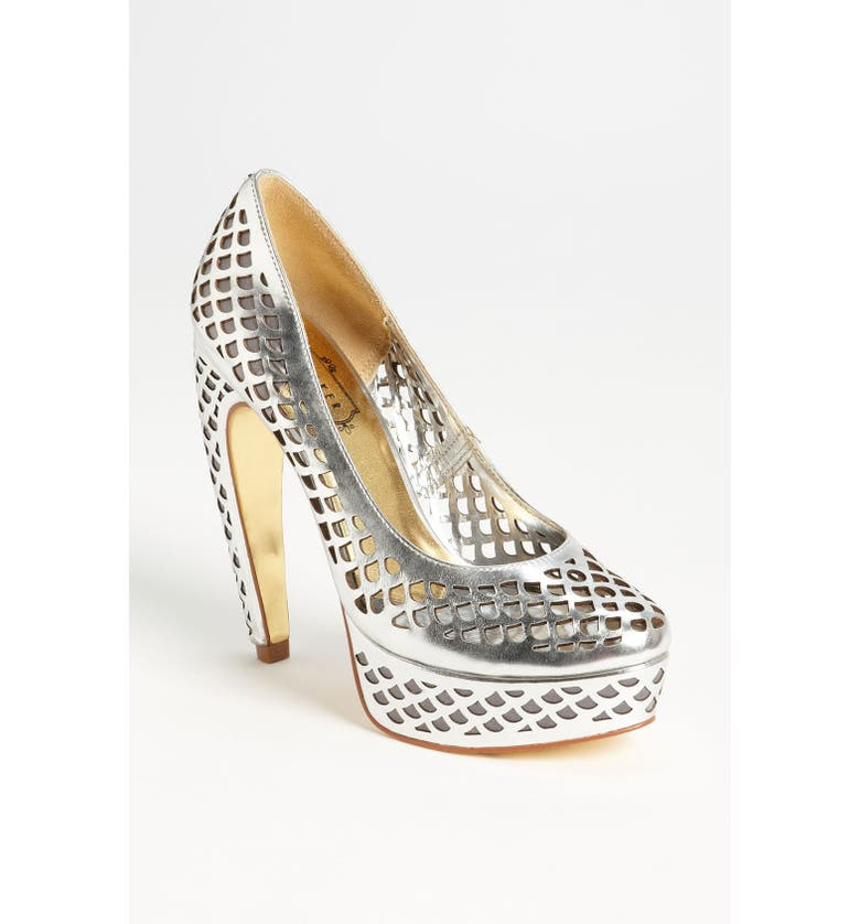 TED BAKER LONDON 'Poppy' Pump, Main, color, SILVER