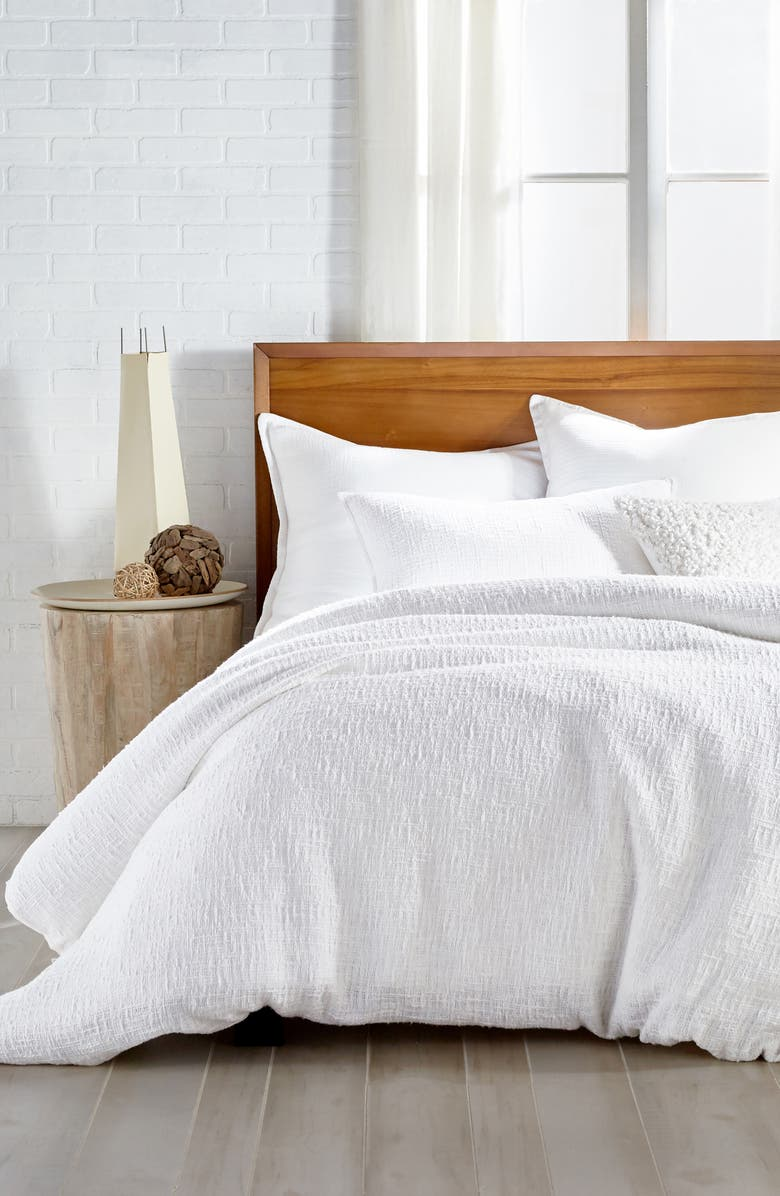 DKNY Pure Texture Duvet Cover, Main, color, WHITE
