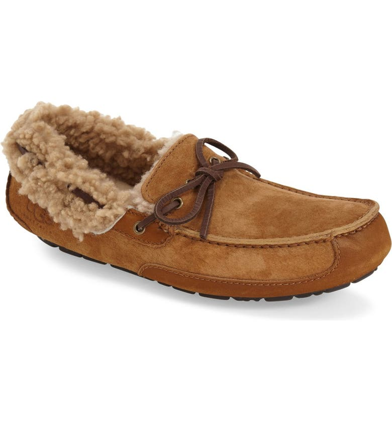 UGG<SUP>®</SUP> 'Fleming' Water Resistant Slipper, Main, color, 219
