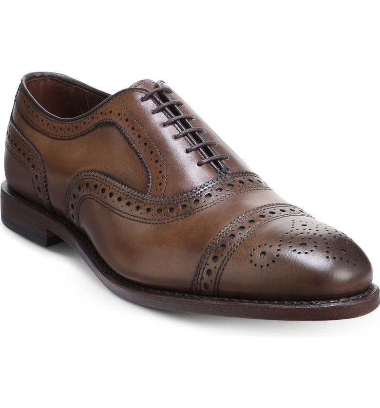 ALLEN EDMONDS Strand Cap Toe Oxford, Main, color, LIGHT BROWN