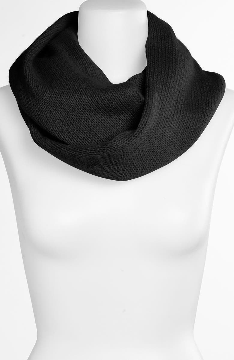 NORDSTROM Cashmere Infinity Scarf, Main, color, Black