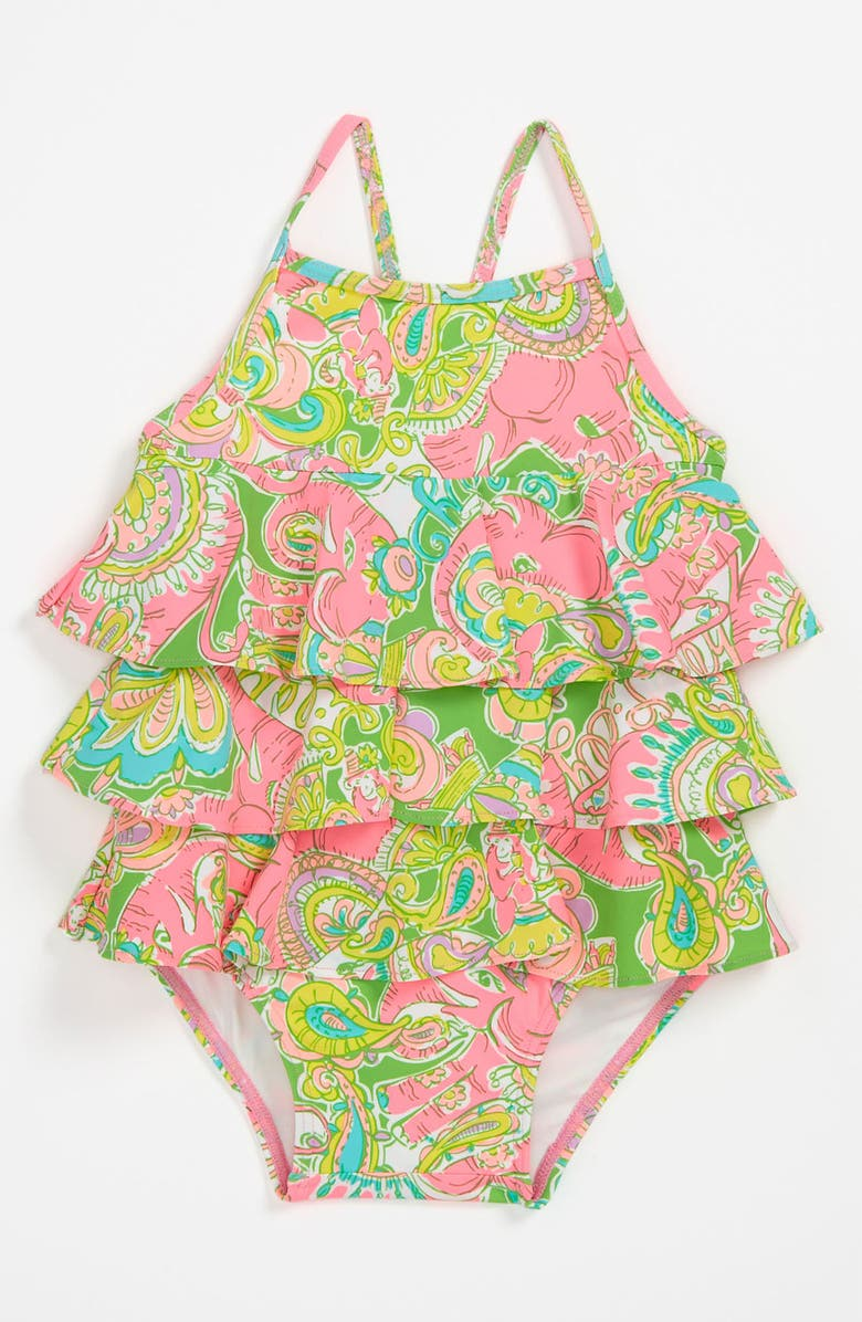 LILLY PULITZER<SUP>®</SUP> One Piece Swimsuit, Main, color, MULTI MINI CHIN CHIN