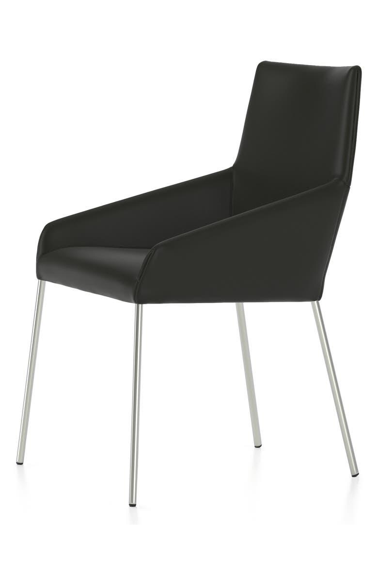 DESIGN ON STOCK USA Penta Leather Side Chair, Main, color, 001