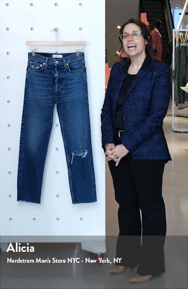 '70s High Waist Ankle Stovepipe Jeans, sales video thumbnail