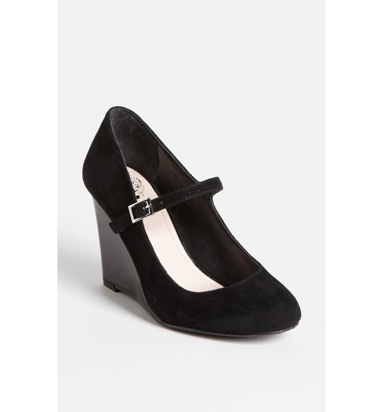 VINCE CAMUTO 'Magie' Wedge, Main, color, BLACK