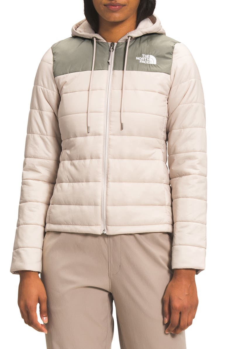 THE NORTH FACE Torreys Insulated Water Repellent Jacket, Main, color, PINK TINT/MINERAL GREY