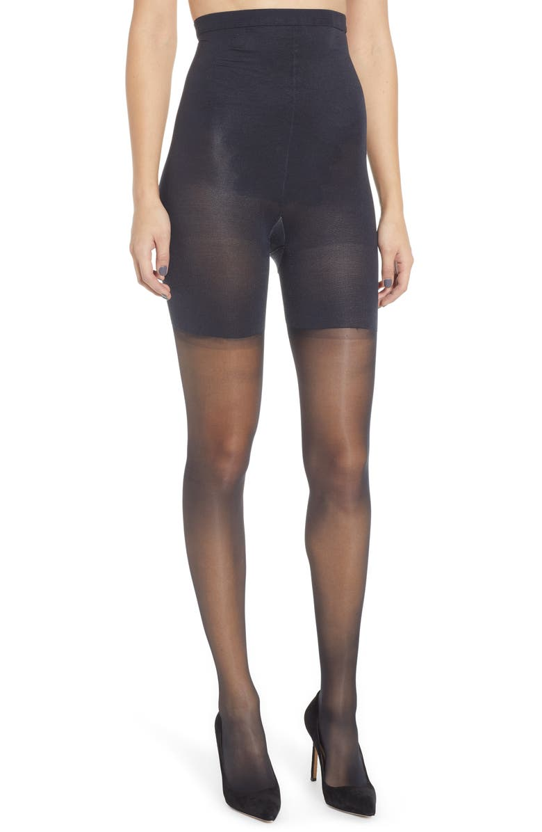 SPANX<SUP>®</SUP> Firm Believer High-Waisted Shaping Sheers, Main, color, Black