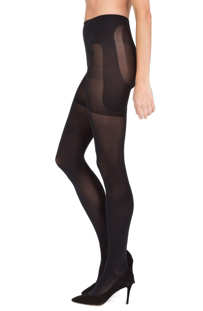 SPANX<SUP>®</SUP> 'Luxe Leg Bootyfull' Shaping Pantyhose, Main, color, VERY BLACK