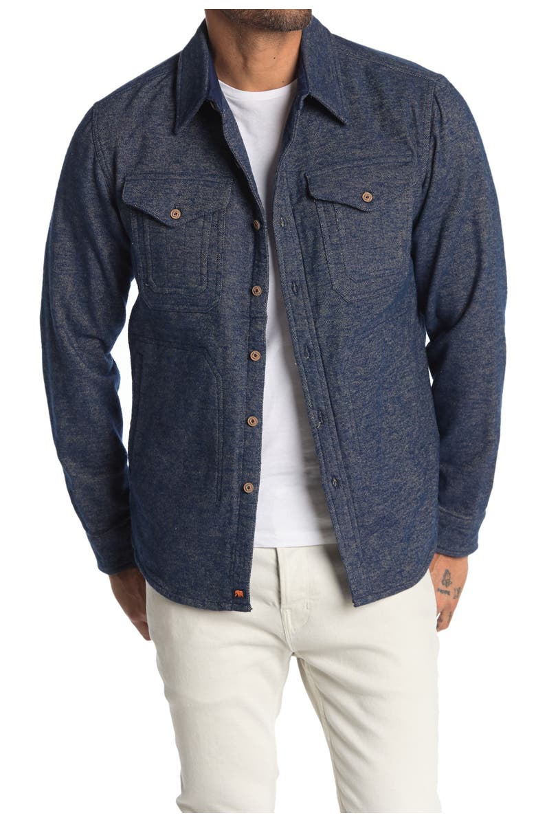THE NORMAL BRAND Twill Shirt Jacket, Main, color, NAVY
