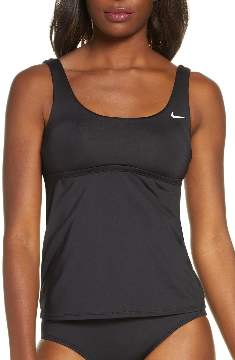 NIKE Essential Tankini Top, Main, color, BLACK