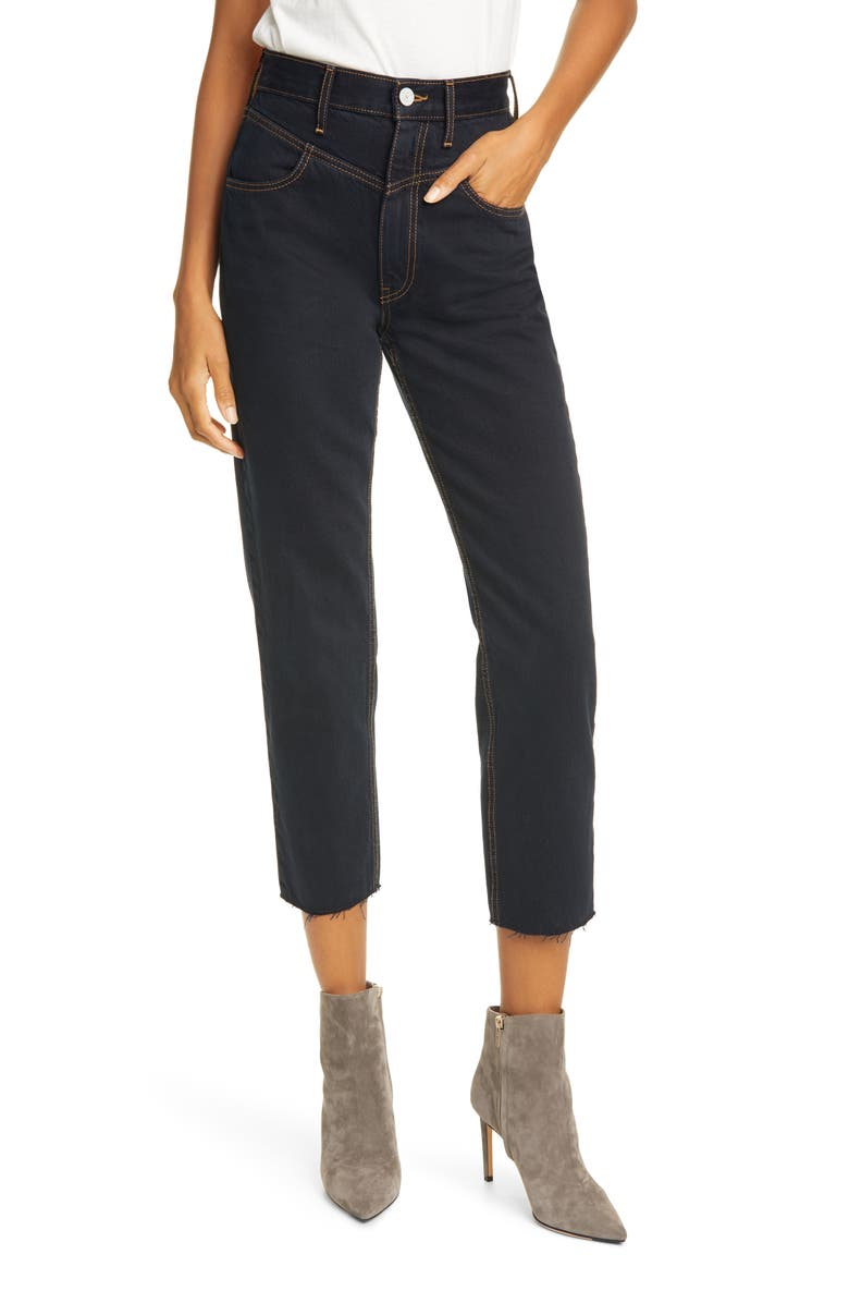 TRAVE Heidi Ankle Straight Leg Jeans, Main, color, 400