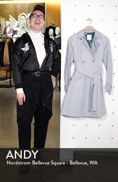 Tie Cuff Detail Trench Coat, sales video thumbnail