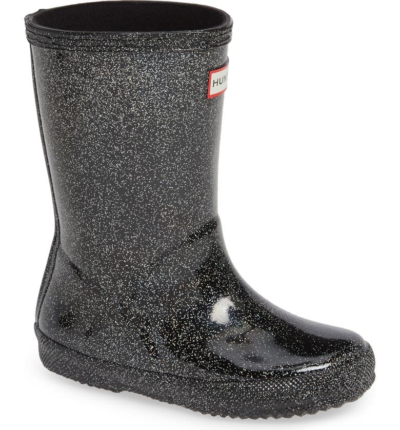 HUNTER Kids First Classic Starcloud Glitter Rain Boot, Main, color, 019