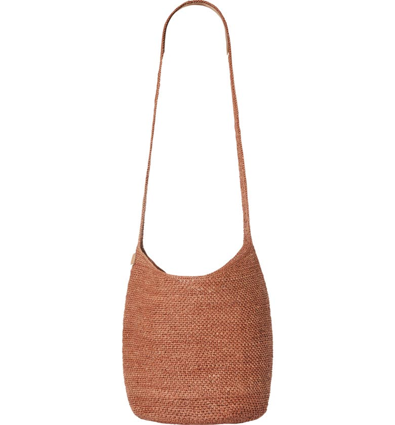 HELEN KAMINSKI Small Rafia Sac Bucket Bag, Main, color, POMPEI/ TAN