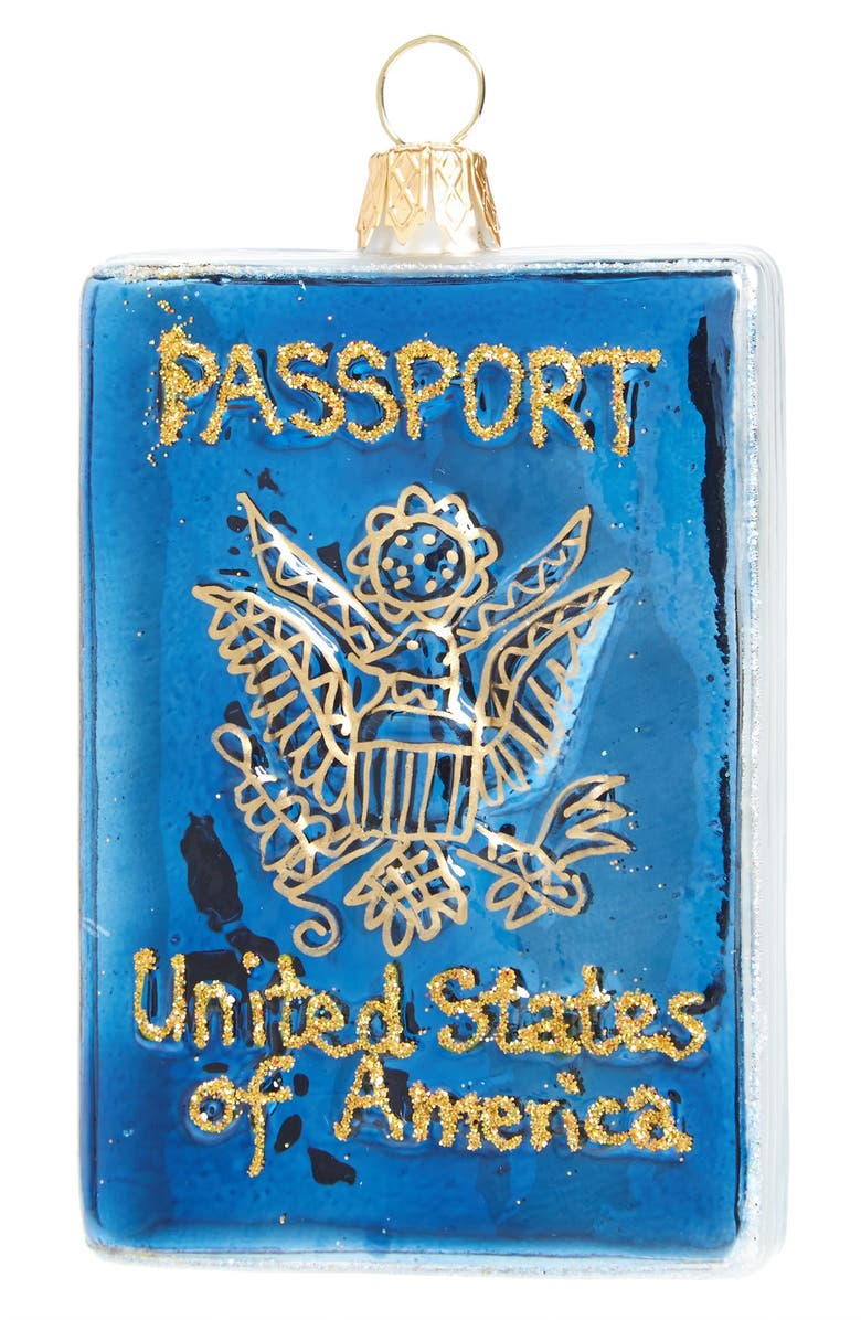 NORDSTROM at Home 'USA Passport' Ornament, Main, color, 400