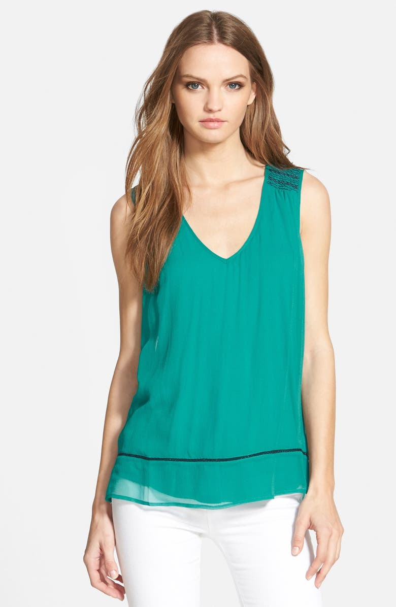 ELLA MOSS 'Nile' Sleeveless Silk Tank, Main, color, 440