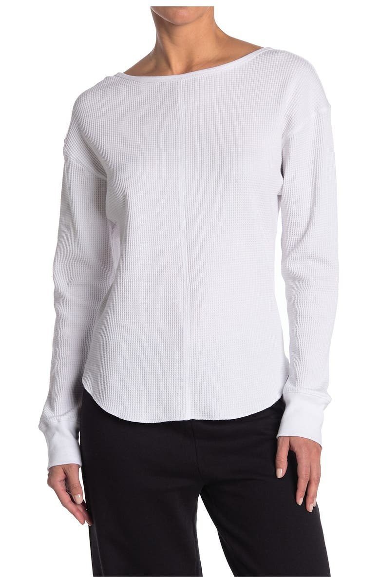 SAGE COLLECTIVE Venture Waffle Long Sleeve, Main, color, WHITE