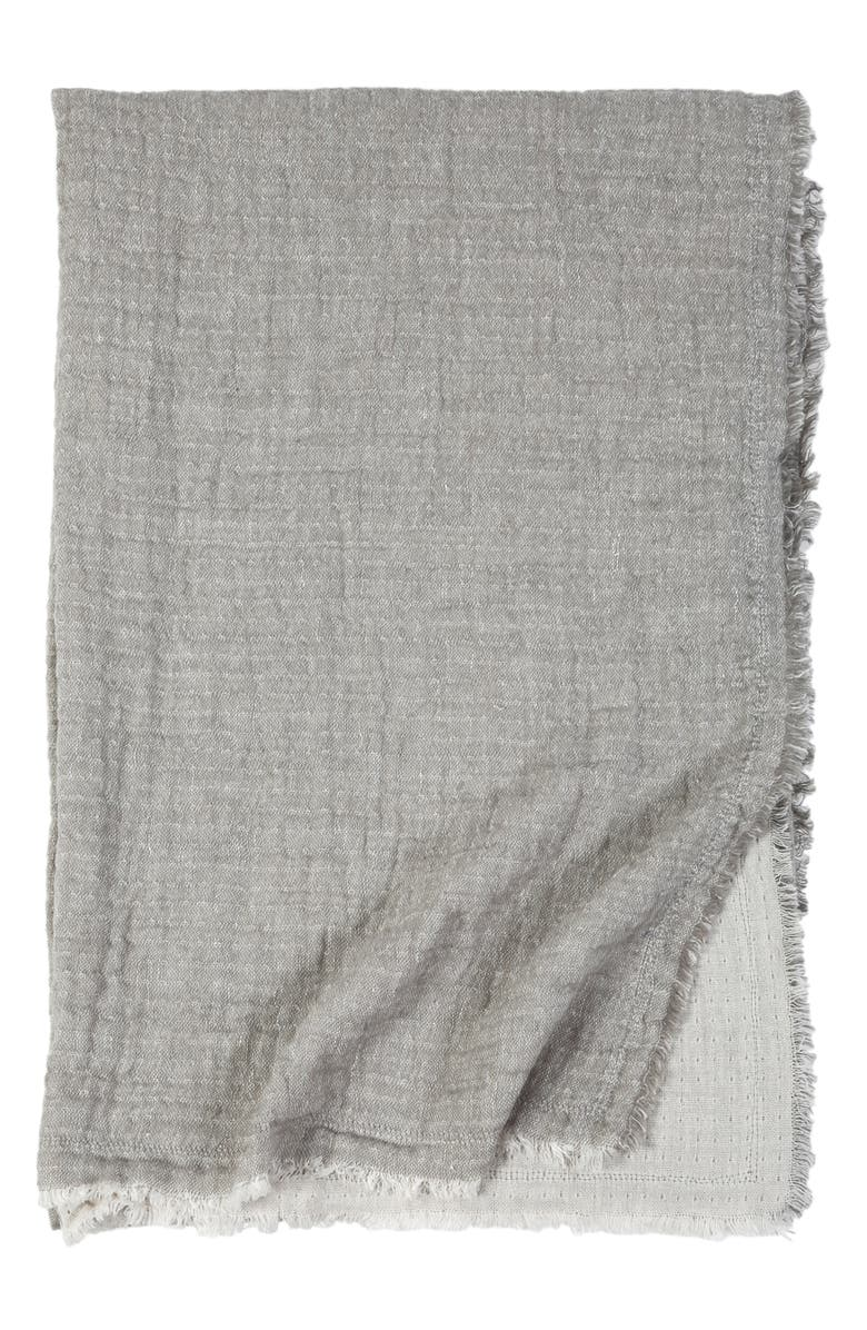 POM POM AT HOME Hermosa Oversized Cotton & Linen Throw Blanket, Main, color, 250