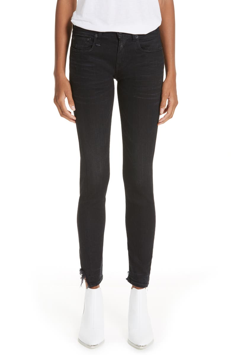 R13 Alison Skinny Jeans, Main, color, STRATFORD CLEAN