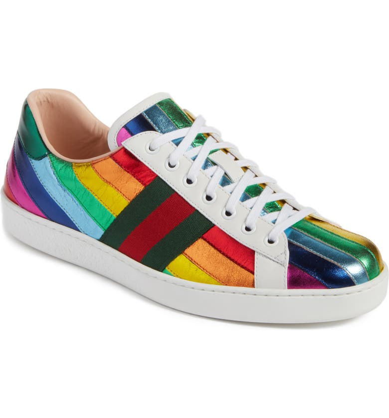 GUCCI New Ace Rainbow Sneaker, Main, color, 149