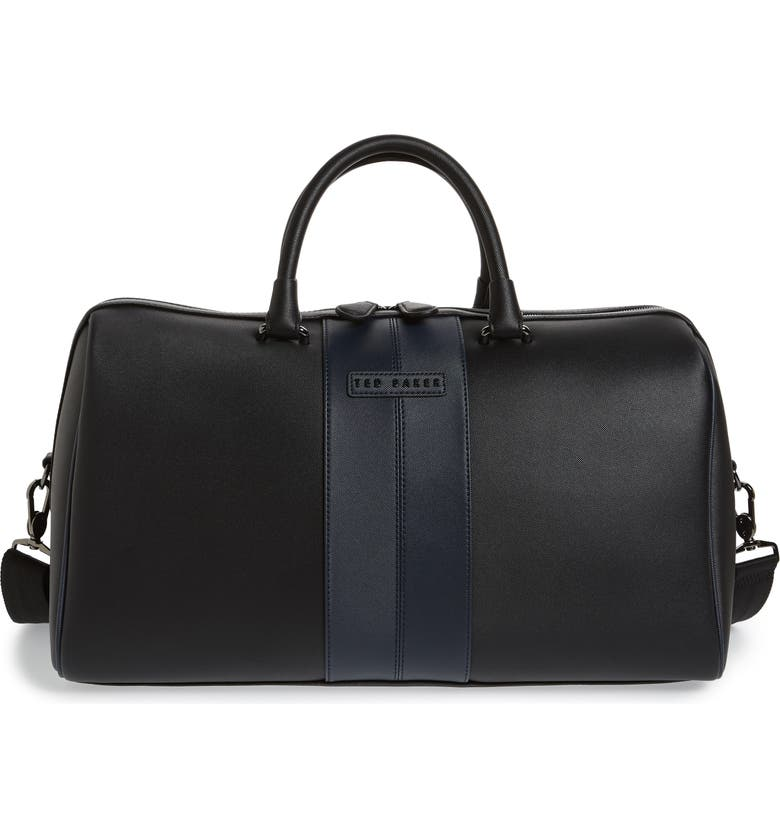 TED BAKER LONDON Faux Leather Duffle Bag, Main, color, 001