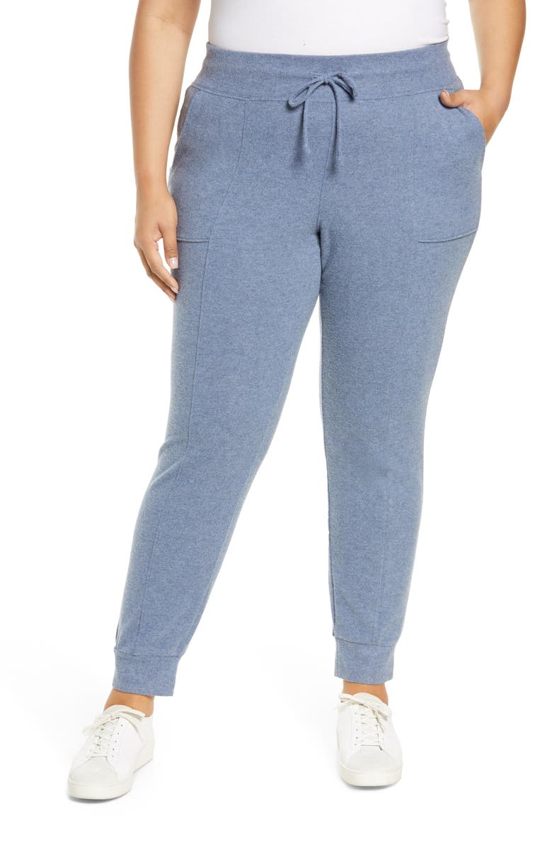 1.STATE Tie Waist Cozy Knit Joggers, Main, color, 483