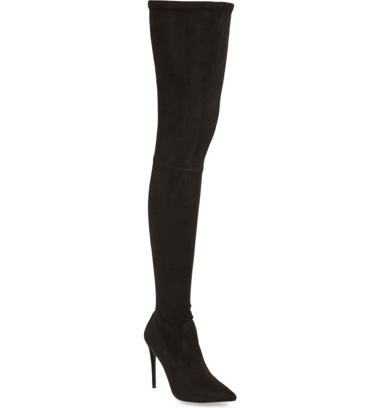 STEVE MADDEN Dominique Thigh High Boot, Main, color, 002