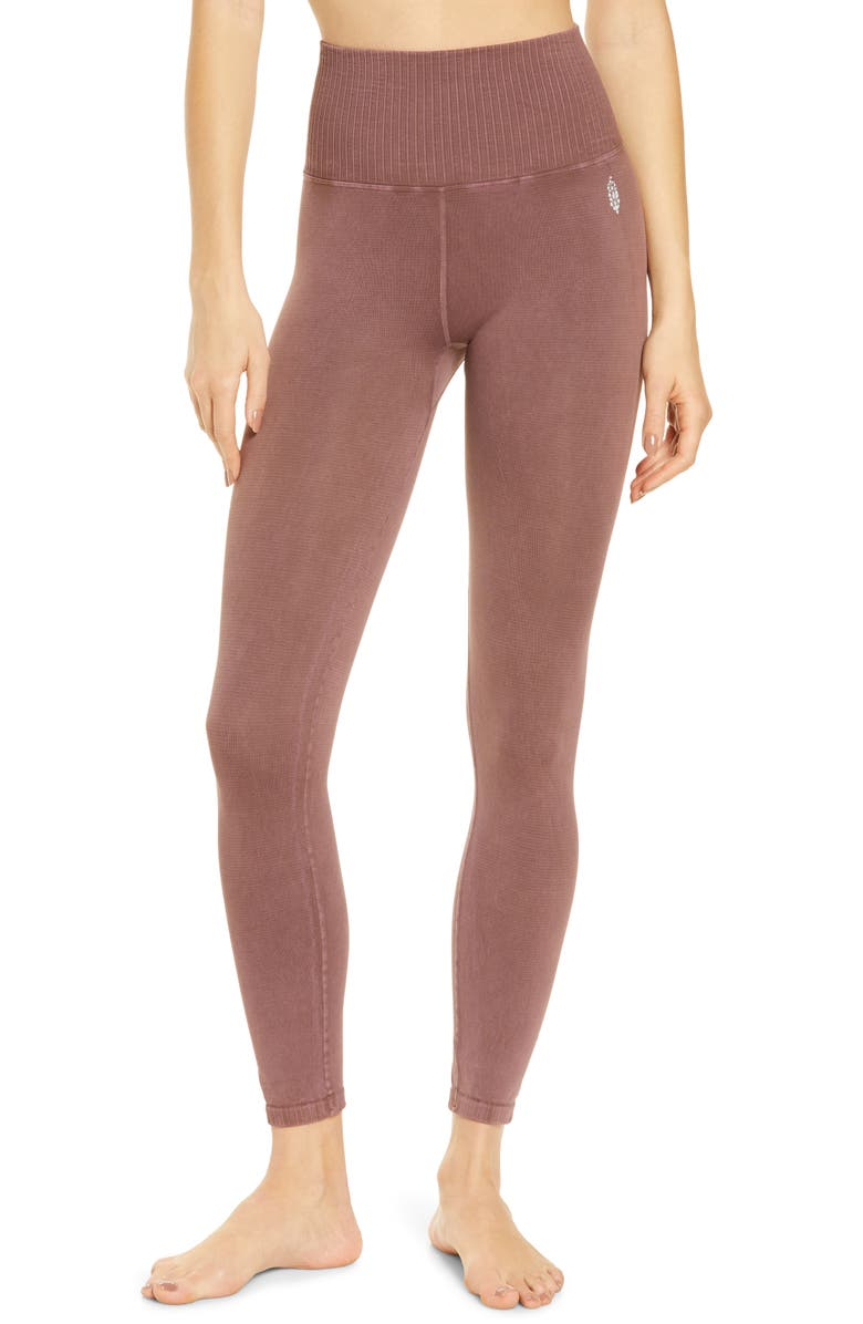 FREE PEOPLE FP MOVEMENT Good Karma Leggings, Main, color, AFRICAN VIOLET