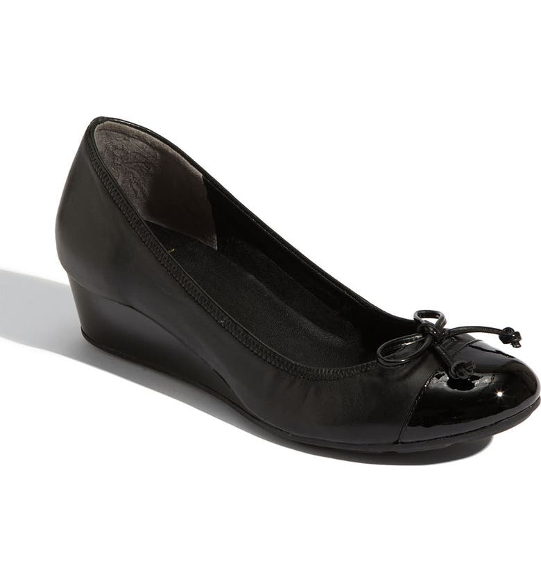 COLE HAAN 'Air Tali' Wedge Pump, Main, color, BLACK LEATHER