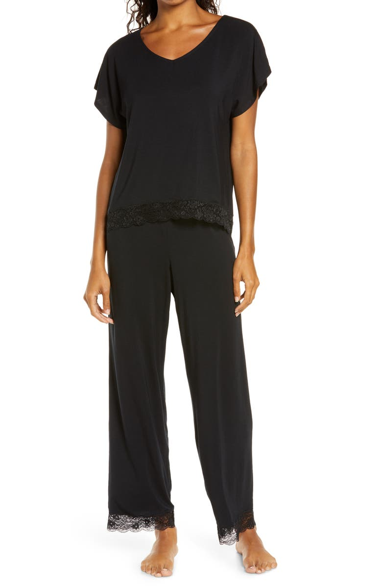 NORDSTROM Moonlight Lace Trim Pajamas, Main, color, 001