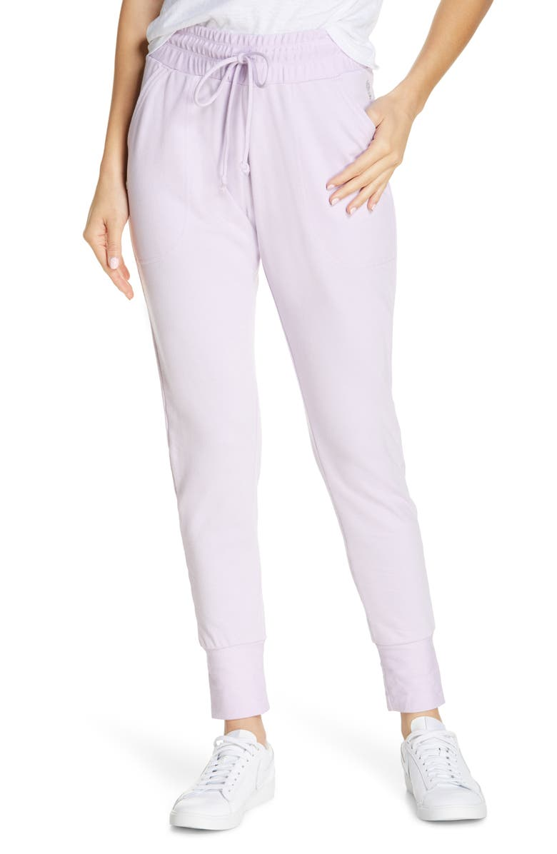 FREE PEOPLE FP MOVEMENT Sunny Skinny Sweatpants, Main, color, DEW BERRY
