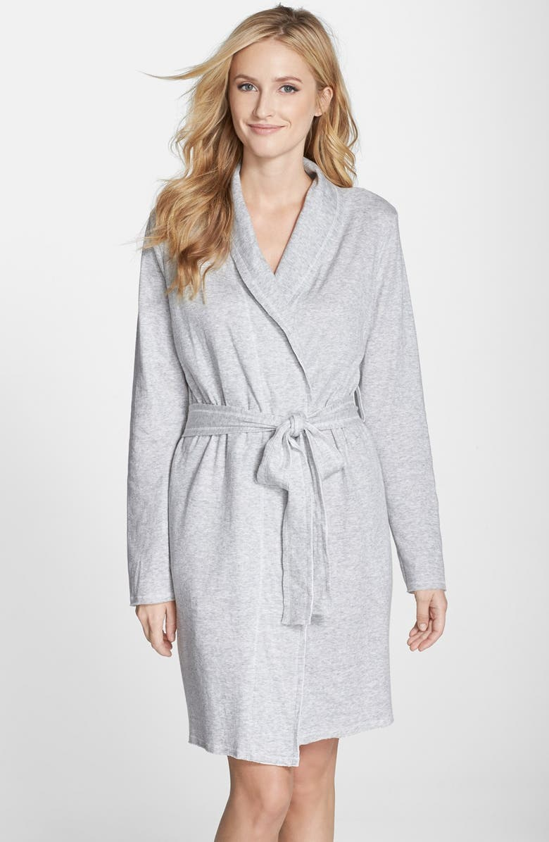 NORDSTROM 'Lazy Mornings' Cotton Robe, Main, color, 050