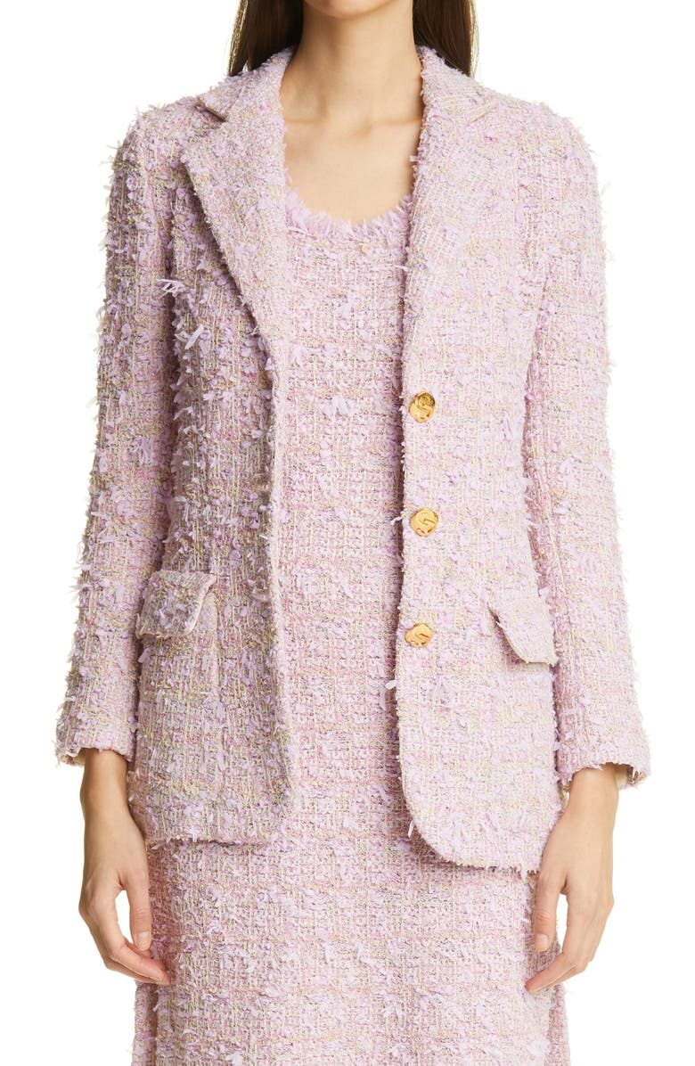 ST. JOHN COLLECTION Tweed Jacket, Main, color, PINK