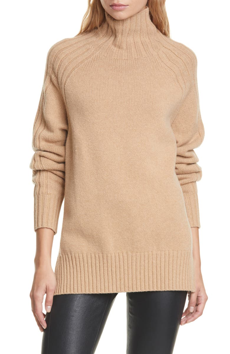 POLO RALPH LAUREN Wool & Cashmere Tunic Sweater, Main, color, 200